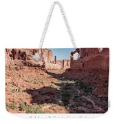 Park Avenue Trail, Arches National Park, Moab, Utah Weekender Tote Bag