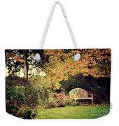 Park Bench, Fall Weekender Tote Bag