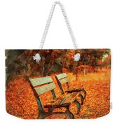 Park Bench In Fall Weekender Tote Bag