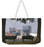 Park Bench Reading Weekender Tote Bag