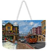 Park City Trolley Car Weekender Tote Bag