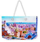 Park Guell Watercolor Painting Weekender Tote Bag