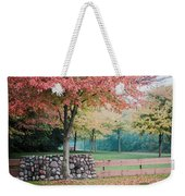 Park In Autumn/fall Colors Weekender Tote Bag