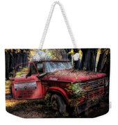 Parked On A Country Road Oil Painting Weekender Tote Bag