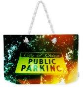Parking Sign Weekender Tote Bag
