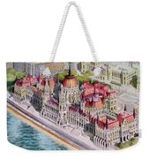 Parliment Of Hungary Weekender Tote Bag by Charles Hetenyi