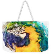 Parrot Ara Watercolor Painting Weekender Tote Bag