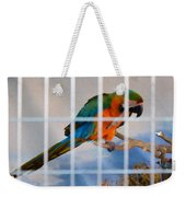 Parrot In A Cage Weekender Tote Bag