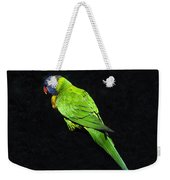 Parrot In Black Weekender Tote Bag