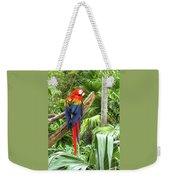 Parrot In Tropical Setting Weekender Tote Bag