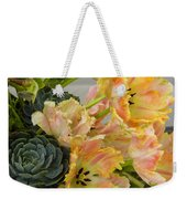 Parrot Tulips And Desert Succulents Weekender Tote Bag