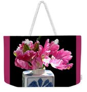 Parrot Tulips On The Windowsill Weekender Tote Bag