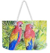 Parrots In Jungle Weekender Tote Bag