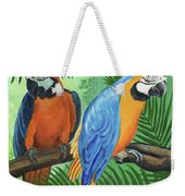 Parrots In Light And Shade Weekender Tote Bag