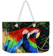 Parrots In The Jungle Weekender Tote Bag