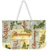 Parsley Collage Weekender Tote Bag by Debbie DeWitt
