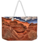 Partly Cloudy At The Wave Weekender Tote Bag
