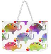 Party Parade - Elephant Children Pattern Weekender Tote Bag