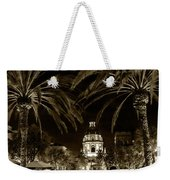 Pasadena City Hall After Dark In Sepia Tone Weekender Tote Bag