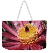Pasque Flower Macro Weekender Tote Bag