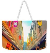 Passage Between Colorful Buildings Weekender Tote Bag