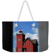 Passageway To The Two Harbors Lighthouse Weekender Tote Bag
