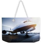 Passenger Airplane On The Airport Parking Weekender Tote Bag