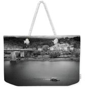 Passing Storm In Chattanooga Black And White Weekender Tote Bag