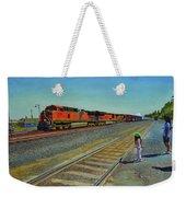Passing Train Weekender Tote Bag