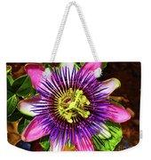 Passion Flower Weekender Tote Bag by Mariola Bitner