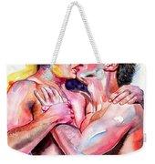 Passionate Kiss Watercolor Weekender Tote Bag