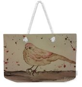 Pastel Bird Weekender Tote Bag by Ginny Youngblood