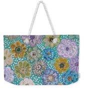 Pastel Floral Garden Weekender Tote Bag