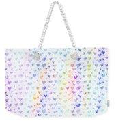 Pastel Hearts Weekender Tote Bag