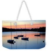 Pastel Lake And Boats Simphony Weekender Tote Bag