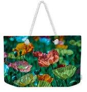 Pastel Poppies On Blue Haze Weekender Tote Bag