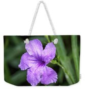 Pastel Purple With Raindrops Weekender Tote Bag