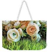 Pastel Roses Weekender Tote Bag