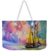Pastel Sail Weekender Tote Bag