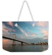 Pastel San Francisco Sunrise Weekender Tote Bag
