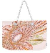Pastel Spiral Flower Weekender Tote Bag