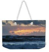 Pastel Sunset Over Stormy Waves Weekender Tote Bag
