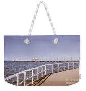 Pastel Tone Sea Pier Landscape Weekender Tote Bag