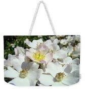 Pastel White Yellow Pink Roses Garden Art Prints Baslee Weekender Tote Bag