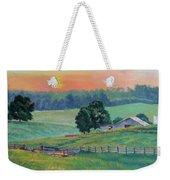 Pastoral Sunset Weekender Tote Bag