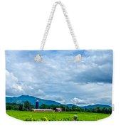 Pastoral Vermont Farmland Weekender Tote Bag