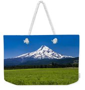 Pasture View Of Mt. Hood Weekender Tote Bag