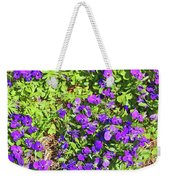 Patch Of Pansies Weekender Tote Bag