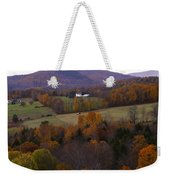 Patch Worked Mountains In Vermont Weekender Tote Bag