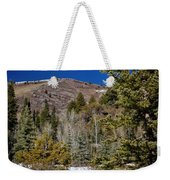 Patches Of Snow Weekender Tote Bag